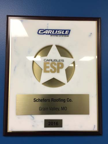 Industry Awards Schefers Roofing Co