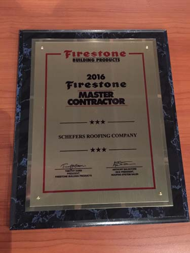 Firestone Master Contractor Schefers Roofing Co