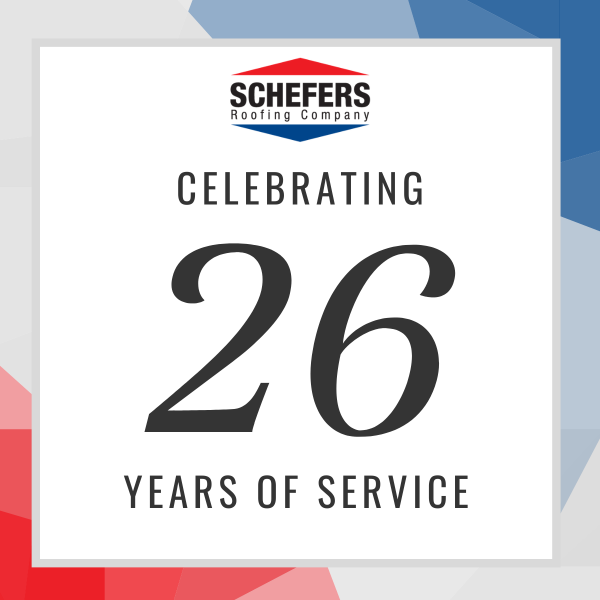Schefers Roofing Celebrates 26 Years Of Commercial Roofing Service